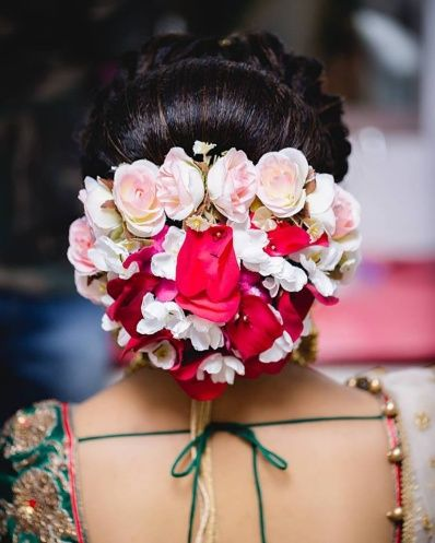rose petals hairstyle