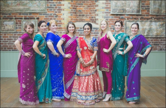 american dress for indian wedding