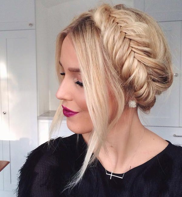 easy long hair updo hairstyle