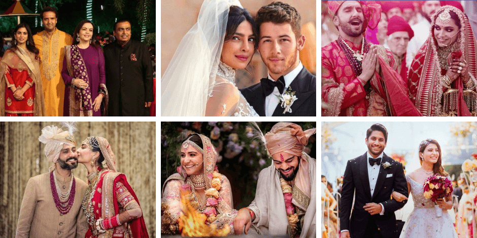 4717ea10bb 15 Indian Bollywood Celebrities Wedding Dresses & Photos 2018-2019