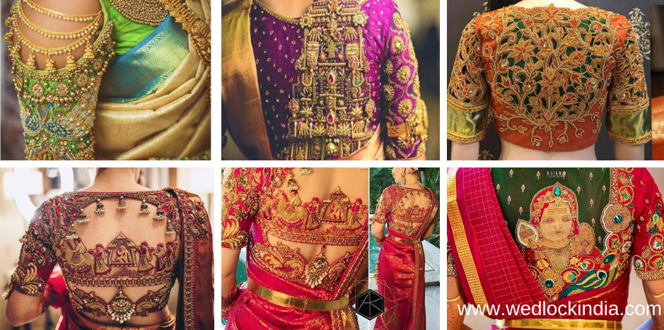 30 Latest Maggam Work Blouse Designs With Catalogues In
