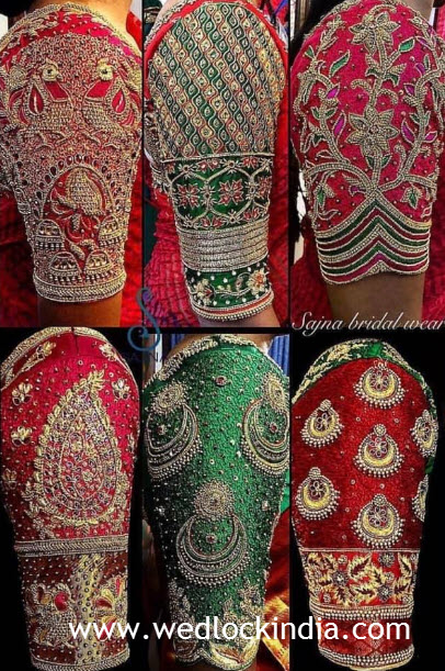 maggam work on blouse hands