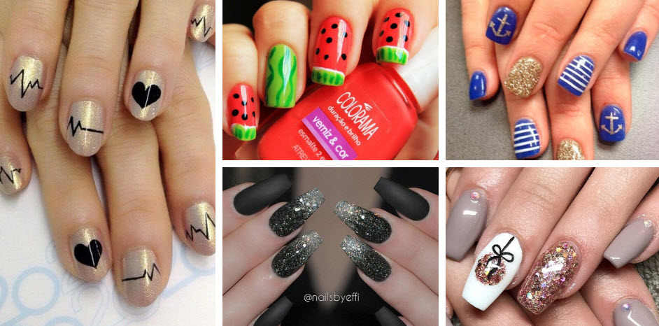 Simple and Easy Nail Art Designs Images and Ideas 2021