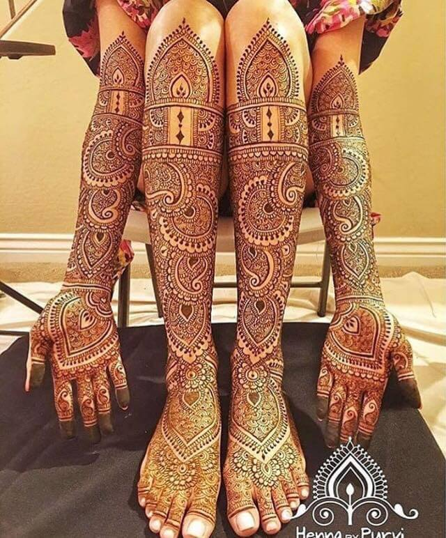 mehndi design for hands and legs