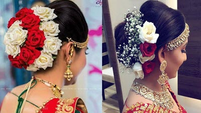 bridal juda hairstyles with puff