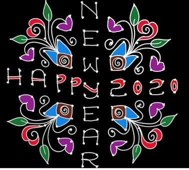 simple new year kolam