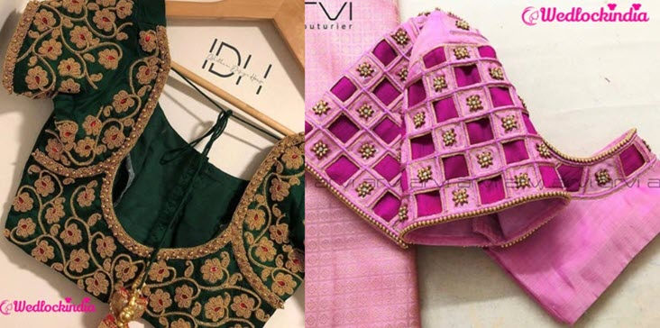 bridal blouse designs for silk sarees