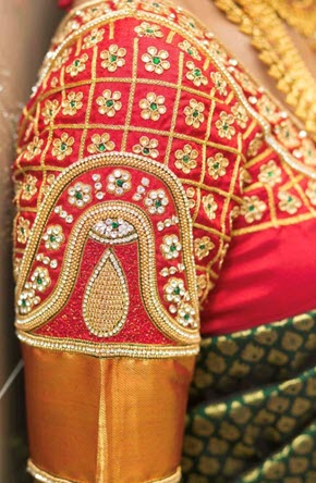 bridal blouse embroidery designs