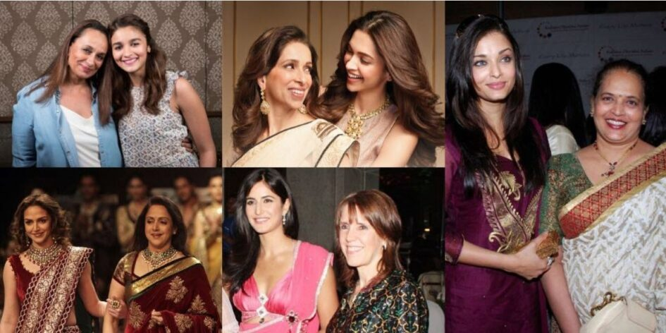 Bollywood actress with their mothers