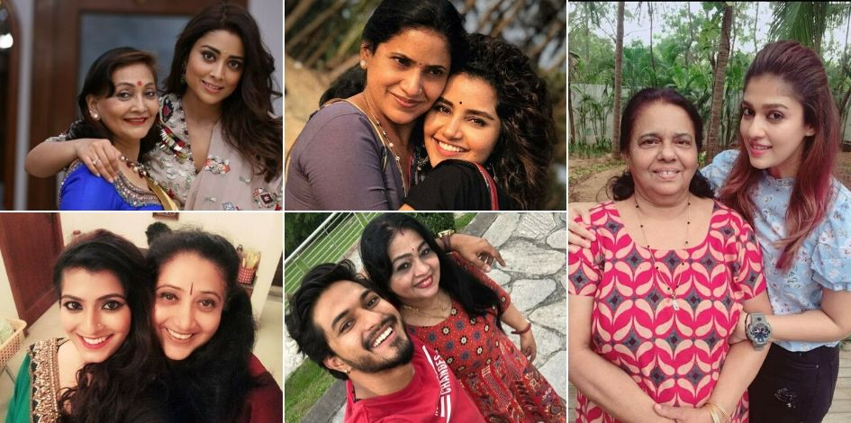 south indian celebrities with mothers